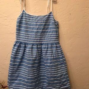 Gap small striped spaghetti strap dress